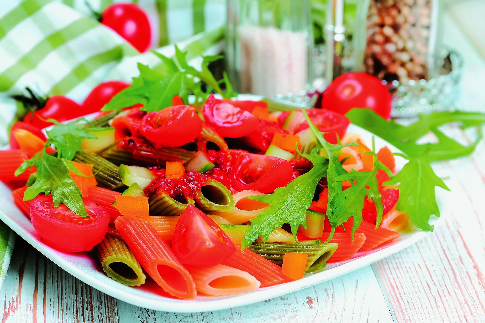 σαλάτα ζυμαρικών με λαχανικά